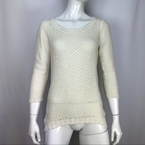 Soft Joie Sweater Beige Knit Long Sleeve Top